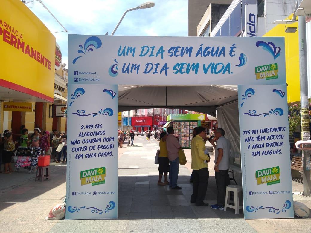Deputado Davi Maia faz campanha em alusão ao Dia Mundial da Água