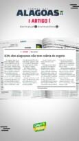 83% dos alagoanos não tem coleta de esgoto