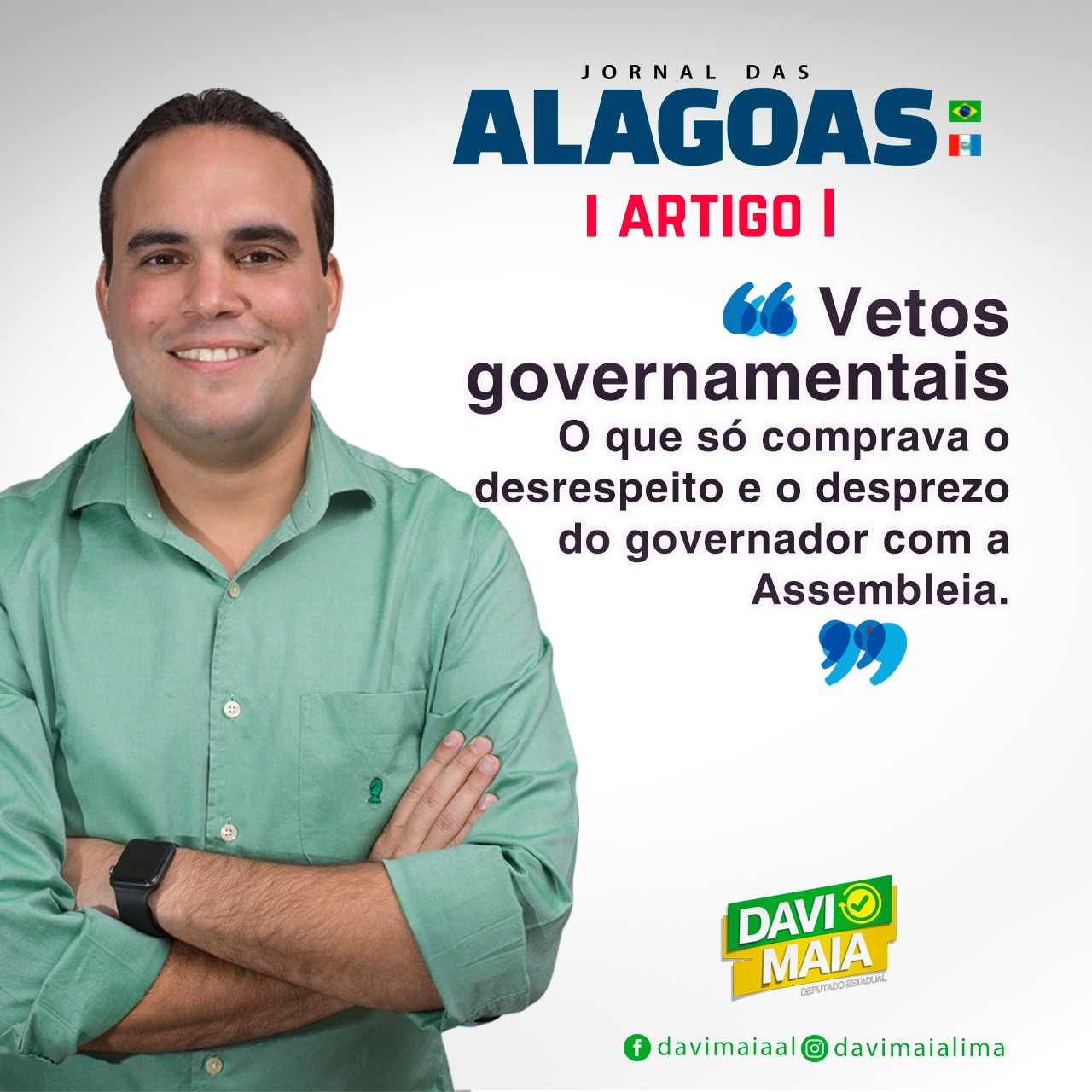 Artigo Jornal das Alagoas – Vetos governamentais