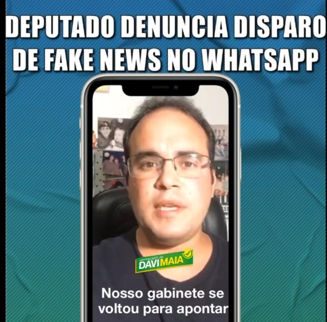 Davi Maia denuncia disparo de fake news através do WhatsApp