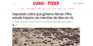 DIÁRIO DO PODER: Deputado cobra que governo Renan Filho estude impacto de manchas de óleo em AL