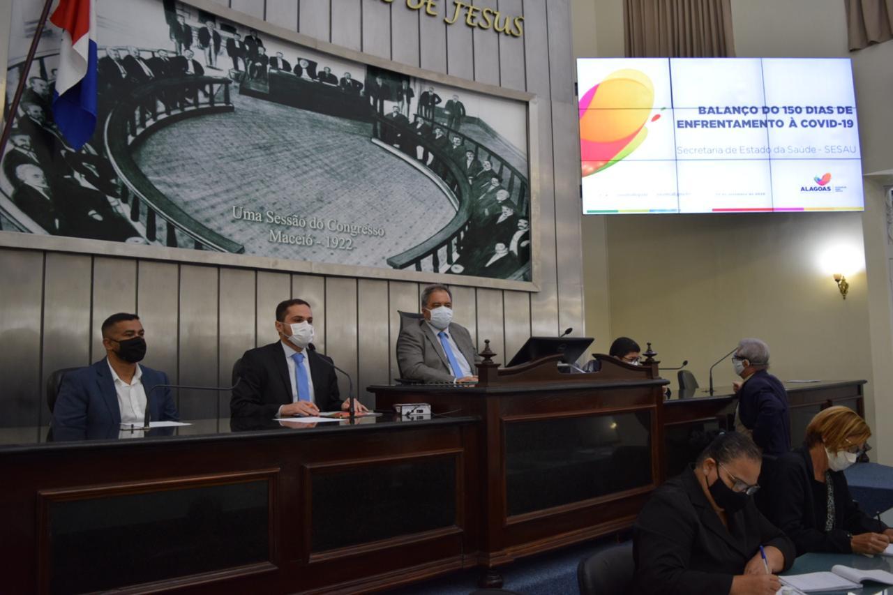 Secretários estaduais vão a ALE explicar ações de combate à Covid-19